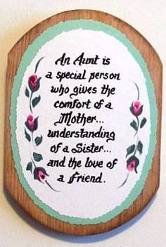 So lucky to have awesome aunts and to have married into a family where I get Julie as an aunt. :)