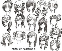 Cara Menggambar Manga (hair)