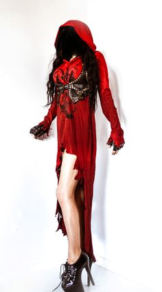 Image of TOXIC VISION red Baphomet hooded cloak... I want this more than anything.