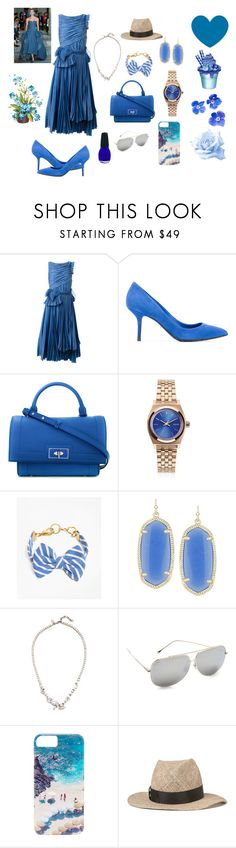 """Blue combinations ...."" by jamuna-kaalla ❤ liked on Polyvore featuring Rochas, Dolce&Gabbana, Givenchy, Nixon, Brooks Brothers, Kendra Scott, Iosselliani, Dita, Gray Malin and House of Lafayette"