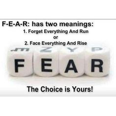 Fear Has Two Meanings Pictures, Photos, and Images for Facebook, Tumblr, Pinterest, and Twitter