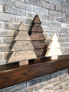 Wood Christmas Tree Set Farmhouse Style Handmade Wood Decor Christmas Happy New Year Pallet Christmas Tree, Christmas Tree Set, Christmas Wood Crafts, Rustic Christmas, Christmas Projects, Holiday Crafts, Christmas Ornaments, Christmas Signs, Woodworking Christmas Gifts