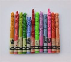 For over a century, kids – young and old alike! – have been coloring their way through childhood with the iconic Crayola crayon. Did you know… The first box of Crayola crayons was introduced … Alex Solis, Wal Art, Crayola, Art Tribal, Color Crayons, Wax Crayons, Crayon Art, Crayon Ideas, Crayon Molds