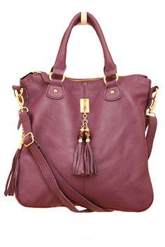 Purple Leather Tassel