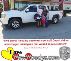 """Five Stars! Amazing Customer service!! Coach did an amazing job making me feel valued as a customer!"" Marcus P. Chula, Missouri"