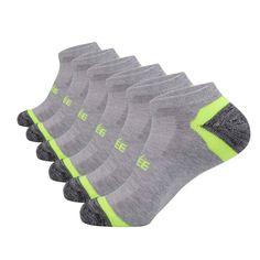 Mens athletic low cut Ankle sock Plaid printing orange white Short Fit Sock