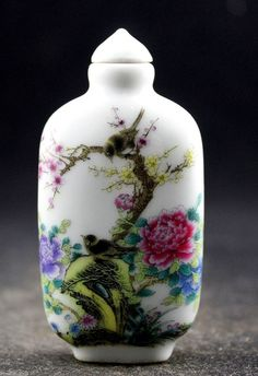Rare and Vintage Oriental Snuff Bottle. by HitherAndYonEstate