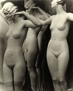 Otto Umbehr (Juxtaposed with the naked M Oppenheim and a clad Man Ray and also clad terracotta warriors)