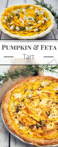 Pumpkin and Feta Tart is a delicious vegetarian dish perfect as a tasty centrepiece for a meatless meal. Puff pastry, pumpkin, feta, eggs, and cream Vegetarian Pie, Vegetarian Recipes Easy, Veggie Recipes, Dinner Recipes, Cooking Recipes, Healthy Recipes, Savory Pumpkin Recipes, Rice Recipes, Feta