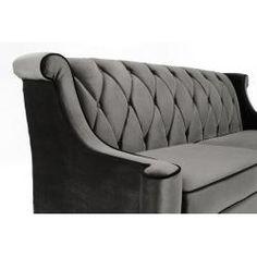 Modern gray velvet sofa