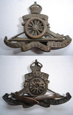 Front and back views. Canadian Horse, Canadian Army, Service Medals, Military Insignia, Military Equipment, First World, Motto, Badges, Ww2
