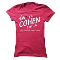 Its A COHEN Thing..!