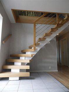 drewno białe z naturalnym - zdjęcie od BJ STUDIO MEBLE I WNĘTRZA - Schody - Styl Skandynawski - BJ STUDIO MEBLE I WNĘTRZA