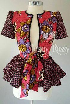 Latest Trendy Ankara Jackets And Blazers Styles Ankara Dress Styles, African Print Dresses, African Print Fashion, Africa Fashion, African Dress, African Blouses, African Tops, African Women, African Attire