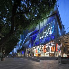 Angular, Geometric, Metal and Glass Facade of Wisma Artia, Singapore. Photo by Mori Hidetaka