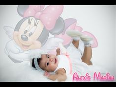 Baby girl Minnie Mouse background photography.