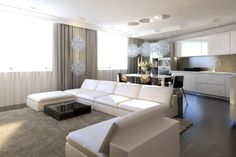 Contemporary Chic Comfort for the Family: Moscow Apartment by GAS
