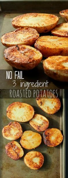 Super crispy roasted potatoes that are perfect every time with NO flipping or fu.Super crispy roasted potatoes that are perfect every time with NO flipping or fussing! Potato Side Dishes, Vegetable Dishes, Vegetable Recipes, Veggie Food, Side Dish Recipes, Quick Potato Recipes, Food Dishes, Love Food, Cooking Recipes