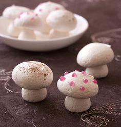petits champignons en meringue pour dcor de bche - Decoration Pour Buche De Noel