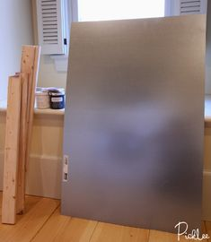 How to turn sheet metal into a magnetic chalk board
