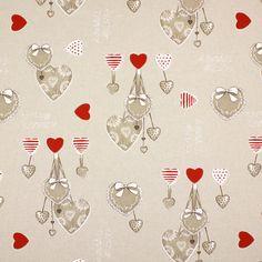 Bouquet corações - Algodão - Poliéster by tecidos.com.pt