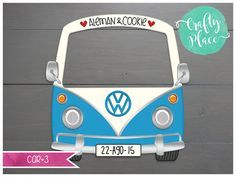 This listing is for ONE personalized VW combi cutout photo frame prop. Backdrop Frame, Backdrop Design, Photo Booth Backdrop, Backdrops, Flower Backdrop, Photo Frame Prop, Photo Props, Wedding Photo Booth, Wedding Photos
