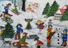 French Conversation, Picture Story, Circle Time, Educational Games, Winter, Preschool, Character Design, Activities, Children