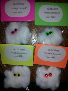"My Pet Cloud- ""The sky is the limit"" Graduation favors for Pre K/ VPK graduates"