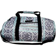 Billabong Women's Centered On The Sea Duffle Bag ($20) ❤ liked on Polyvore featuring bags, luggage and accessories