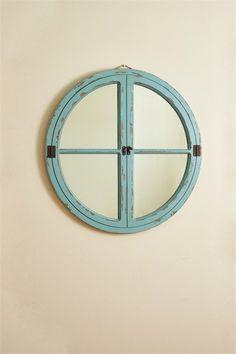 Round Window Wood Mirror - Sea – THE PRIM PATCH