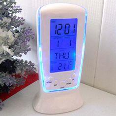 Led Digital Clock Despertador Desk white Clock Bedside Electronic Watch Square Gift For Kids Calendar warmth APJ