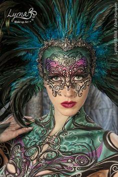 Venezian collection - Avant Garde Makeup: Lymari Millot - Body Painters: Lymari Millot and Alex Hansen - Photography by: Craig Barnes Model: Miranda Stewart - Los Angeles, CA 2011