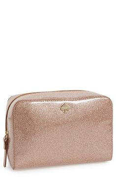 kate spade new york 'glitter bug - large aspen' bag in glitter rose gold - perfect gift for your bridesmaids!