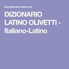 Dizionario latino italiano olivetti online dating