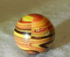 5081m Vintage Christensen Agate Company Striped Opaque Marble .61In Mint As Made