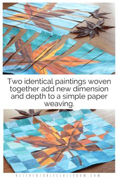 Weaving paper is an elementary skill that is important but is no joke to teach. Take that simple skill to the next level with this concept of weaving together two similar paintings. Paper weaving is great for fine motor skills, & dexterity. The painting portion of this lesson is a great way focus on color theory too!