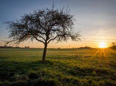 O nascer do sol na Alemanha