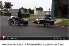 How to Set Up Solace Pull behind Motorcycle Camper Trailer