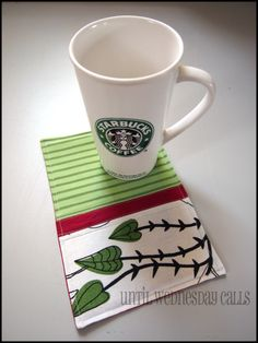 "coffee rug! :) the blogger describes it ""like a placemat and a coaster had a baby!"""