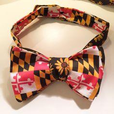 Black Eyed Susan//Maryland Flag Bow Tie by chesapeaketides on Etsy