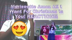 Morissette Amon All I Want For Christmas Is You! REACTION!!!