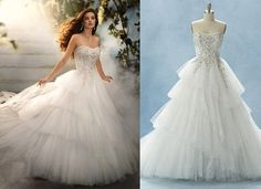 Disney Wedding dress! didn't know disney was capable of gorgeous wedding dresses..