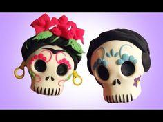 Frida Kahlo & Diego Rivera sugar skulls clay tutorial
