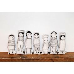 .@MINi Style Blog | We absolutely adore these hand painted and hand sewn dolls by @naked_lunge! A... | Webstagram
