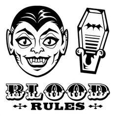 Happy HALLOWEEN VAMPIRE's clear acrylic RUBBER STAMP's NEW! coffin BLOOD RULES! #Inkadinkado