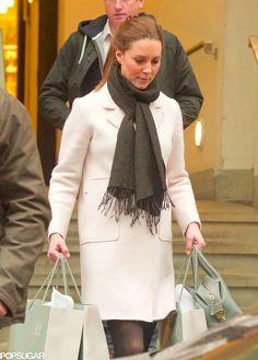 Kate in a Zara coat
