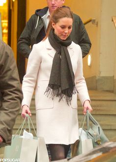 Kate in a Zara coat