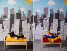 #11 Baby Batman And Baby Superwoman  22+ Geeky Newborns Who Are Following In Their Parents' Nerdy Footsteps