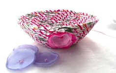 Magenta Bath Decor Handmade Ring Catcher Key by WexfordTreasures