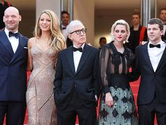 THE CAST OF CAFÉ SOCIETY The buzzy film's premiere at the Cannes Film Festival brought along its star-studded cast, which included Corey Stoll, Blake Lively, Kristen Stewart and Jesse Eisenberg – all of whom posed next to the movie's director, Woody Allen.